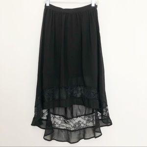 Forever 21 Sheer Lace Skirt